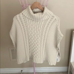 Children's knitted poncho